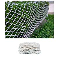 Safe Net Balcony Protection Net Protective Net, Balcony Window Door Stair Railing Safety Net Cat Net Decoration Net Nylon Hand-woven Net, White