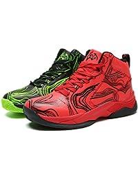 LANSEYAOJI Niños Zapatillas de Baloncesto High-Top Al Aire Libre Calzado Deportivo Moda Lace Up Sneaker Ligeros…