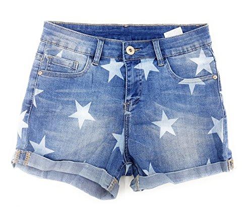 Damen Jeans-Shorts Jeans Shorts Basic Used Look Destroyshorts A 0713
