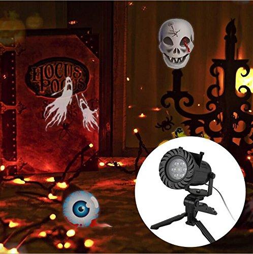 Lucky Goddess 15LED Displayschutzfolie auswechselbar Projektor Lampe-Projektion Außen Garten Licht - Dekorieren Wohnzimmer Halloween Ihr Sie