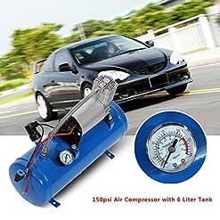 150 psi 12 V Compressore d'aria pneumatici Inflator pompa con serbatoio da 6 litri per Air Horn treno camion RV pneumatici