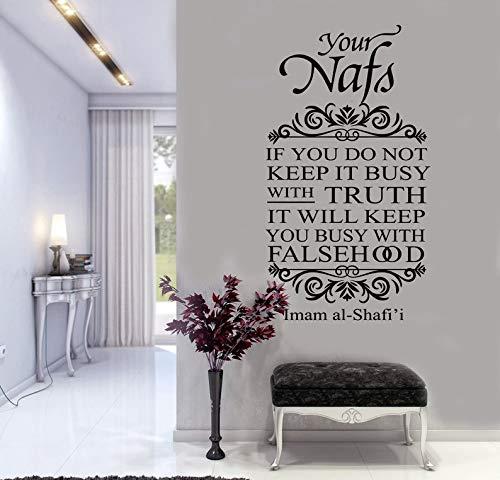 Arabischen ic wandaufkleber vinyl dekoration wandtattoo wohnzimmer schlafzimmer wandaufkleber 42x75 cm