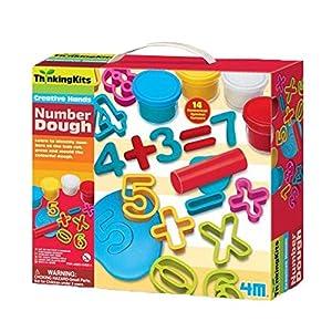 4M- Thinking Kits Plastilina Números, Multicolor (404715)