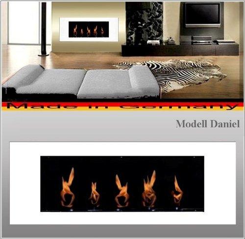 Gel- und Ethanolkamin Kamin Modell Daniel - Wählen Sie die Farbe (Weiss)