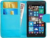 G-Shield Hülle für Nokia Lumia 930 Klapphülle mit Kartenfach - Hellblau
