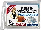 Neusu 6 Roll-Up Beutel, gemischtes Set: 2x Beutel Mittelgroß (35 cm x 50 cm), 2 x Beutel Groß (40 cm x 60 cm) & 2 x Beutel Extragroß (50 cm x 70 cm)