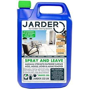 5 Litre Concentrate Jarder Spray & Leave Cleaner - Patio Fencing Decking - Moss Mould & Algae Killer