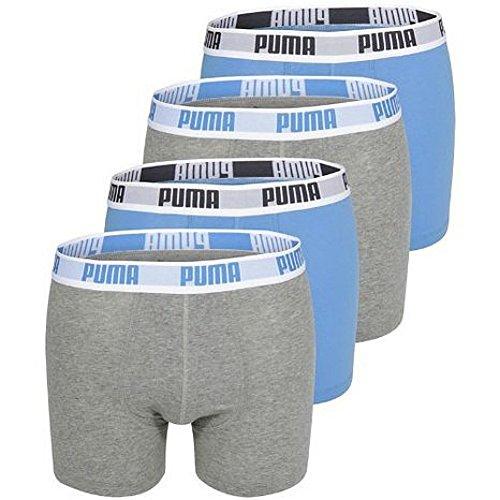 PUMA Basic Boxers - Pantalones cortos de boxeo para hombre 4 unidades melange XL