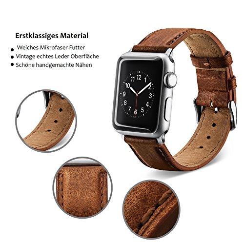 51lywNBWHvL - [Amazon.de] Benuo Echtes Leder Armband für alle Apple Watches mit 42mm nur 10,79€ statt 17,99€