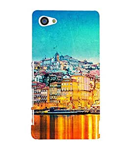 ANIMATED LAKE VIEW 3D Hard Polycarbonate Designer Back Case Cover for Sony Xperia Z5 Compact :: Sony Xperia Z5 Mini