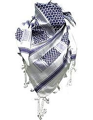 Palästinenser Tuch Schal - Weiß Blau