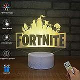 3D Visuelle Lampe Optische Täuschung LED Nachtlicht, Erstaunliche 7 Farben FORTNITE Form Berührungsempfindliche Schalter Lampen Mit Acryl Flach, USB-Gebühr Für Inneneinrichtungen (A)