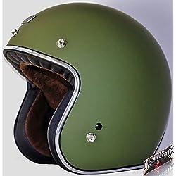 Origine - Casco para Moto Origine Primo Green Army - Color verde - Talla M