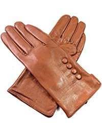 Ladies Womens Premium Quality Genuine 4 Button Leather Gloves