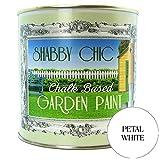 Shabby Chic, colore: bianco con petali a base di gesso-Vernice da giardino, 1 l