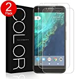 Google Pixel XL Screen Protector, G-Color® Tempered Glass Screen Protector,Case Friendly[0.2mm,2.5D][Bubble-Free] [9H Hardness] [Scratch-resistant] for Google Pixe XL (2 packs)