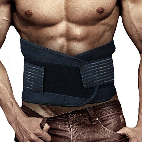 Männer Frauen Atmungsaktive Elastische Rückenbandage Stabilisator Haltungskorrektur Gewichtsreduktion Blau M