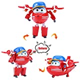 Dilwe Mini Robot Super Wings Transformable Juguete Animado Figura de Acción para Niños Regalo(#2)