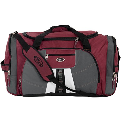 calpak-hollywood-solid-27-inch-lightweight-polyester-unisex-duffel-bag-deep-red-one-size