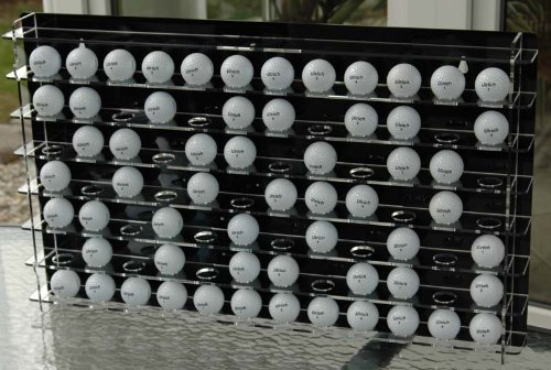 Golfballvitrine für 84 Bälle, mit schwarzer Rückwand -