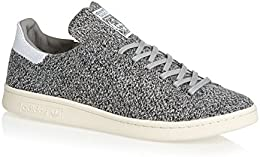 Adidas Originals Trainers - Adidas Originals Stan Smith Primeknit Shoes - Solid Grey/White