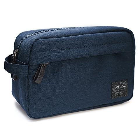 Trousses de toilette pour les hommes, Airlab sac cosmétiques Organiseur multifonctionnel, résistant à l'eau et fortement, taille: 24 * 11.5 * 16 cm, Marine-Bleu