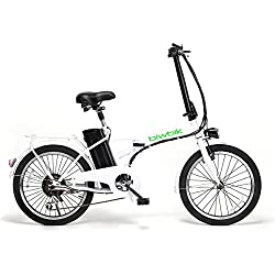 BICICLETA ELECTRICA PLEGABLE MOD. BOOK 200 BATERIA ION LITIO 36V10AH (BLANCO)