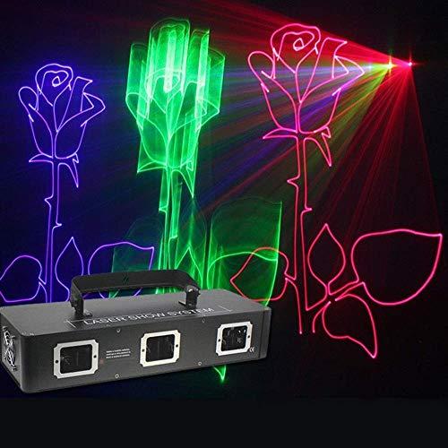 FUTER Bühne DJ Lampen RGB Disco Party Lichter 3D Animation Effekt Projektion Beleuchtung for Bar Weihnachten (Laser-licht-show-maschine)