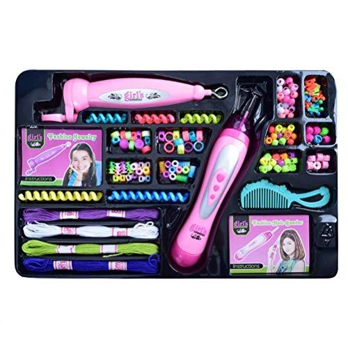 Estilo Juego de trenzas for el cabello for niñas, bricolaje, dos en uno, trenzas combinadas, peluquería, juguetes for niñas Diseño Peinado