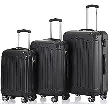 Zwillingsrollen 3 tlg.2045 neu Reisekofferset Koffer Gepäckset Kofferset Trolleys Hartschale in 14 Farben