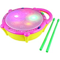 Fiddlys Flash Drum with Sticks - Pink and Yellow