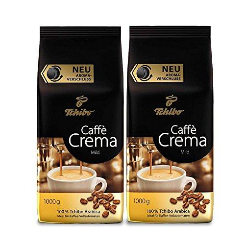 Tchibo Caffè Crema Mild, 2kg ganze Bohne, Kaffee-Genuss für Vollautomaten, Siebträger