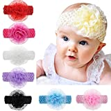 #8: Crochet Cutwork Flower Baby Headband pack of 6 Multicolor