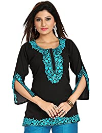 Dragaon-Enticing Black-Blue Embroidered Women Kurta Design