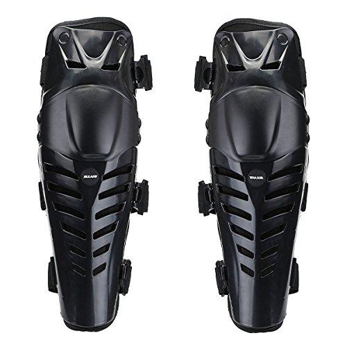 Ginocchiere per Moto , JELEGAN Ginocchio Protezioni per Adulti Protezione da Appoggio di Protezione Accessori Gonfiaggio Protettivo Flessibile per Moto Motocross Racing Gear