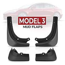 VXDAS Model 3 Mud Flaps Splash Guards Set of 4