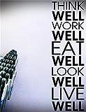 stickers muraux chambre sticker mural Bien travailler Bien manger Bien paraître Bien vivre pour la salle de sport Chambre Salon