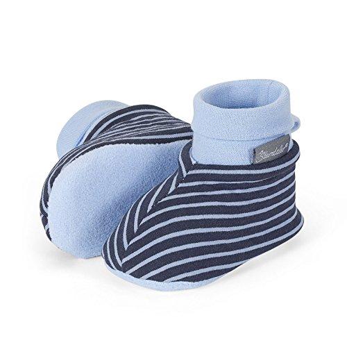 Sterntaler 5101606 - Babyschuhe aus Baumwolle rosa oder blau Marine