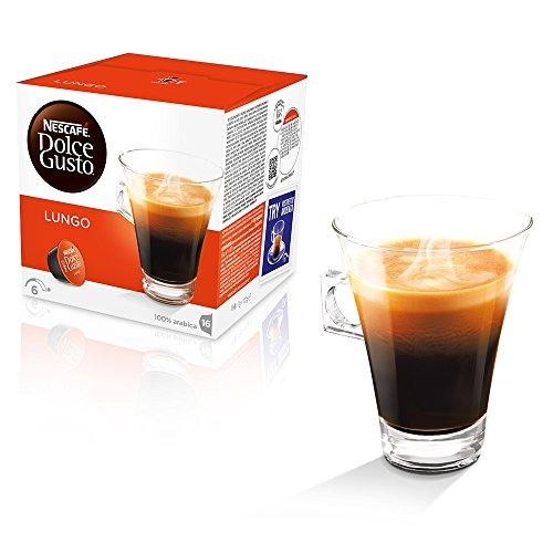 Kaffeepads Kapseln Dolce Gusto Original Nescafe 'Caffe 128 Caffe Lungo