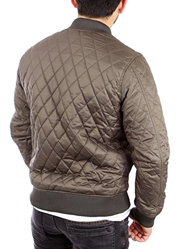 Reslad Bomberjacke Herren Pilotenjacke Diamond Quilt Look Fliegerjacke RS-9003 Olive
