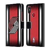 Head Case Designs Offizielle NBA Halbton Gradient Portland Trail Blazers Brieftasche Handyhülle aus Leder für Xiaomi Mi A2 / Mi 6X