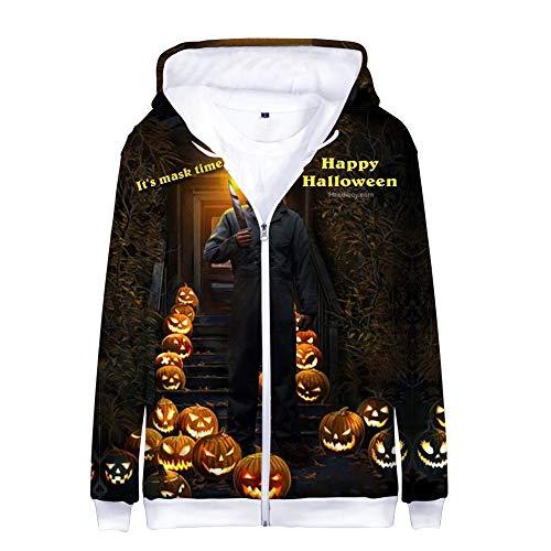 Michael Myers Halloween Pullover Bequeme Hoodies Sweatshirt Coat Fashion Printed Kapuzenpullover Coat Classic Coat (Color : A09, Size : XXXL) (Michael Myers Kapuzenpullover)