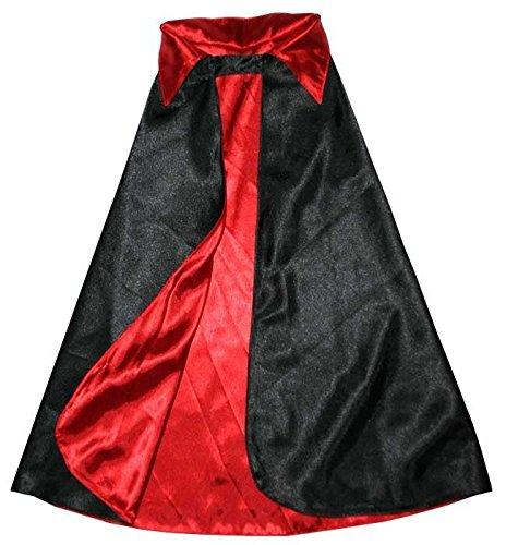 (Trullala Teufel/Vampir Wendecape, Halloween-Kostüm Größe: M (4-6 Jahre))