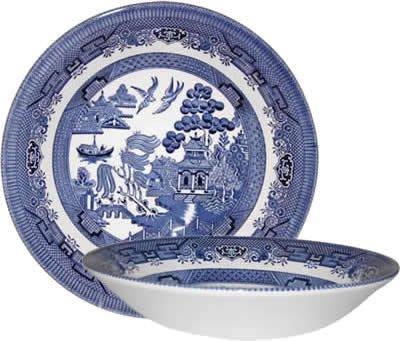 Churchill Blue Willow Suppenschüssel Schüssel 20cm (6er Set) Blue Willow