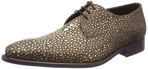 Floris Van Bommel 14194, Zapatos Con Cordones Derby Hombre Marrón (coñac)