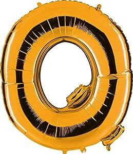 Grabo 362G-P Letra Q Globo Superloon paquete individual, largo-40 pulgadas, color, oro, talla única