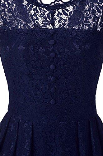 FLYCHEN Damen Elegant Kleider Vintage 1950s Spitzenkleid ...