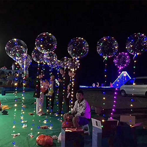 us Led Ballon Transparente Runde Blase Dekoration Party Hochzeit (Name Luftballons Latex)