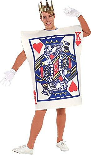 König Herzen Kostüm - Herz König Kostüm mit Krone