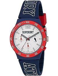 Superdry Urban Athletics Digital White Dial Men's Watch-SYG205U